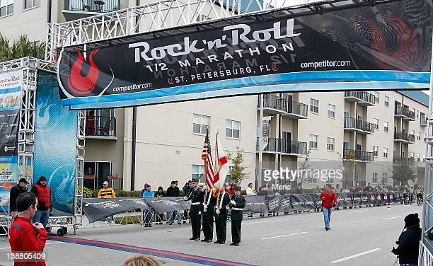 The Starting line of the Rock n Roll Half Marathon on February 12 2012 in St Petersburg Florida
