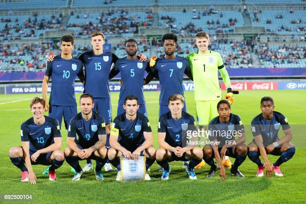 The starting line up of England before the FIFA U20 World Cup Korea Republic 2017 Quarter Final match between Mexico and England at Cheonan Baekseok...