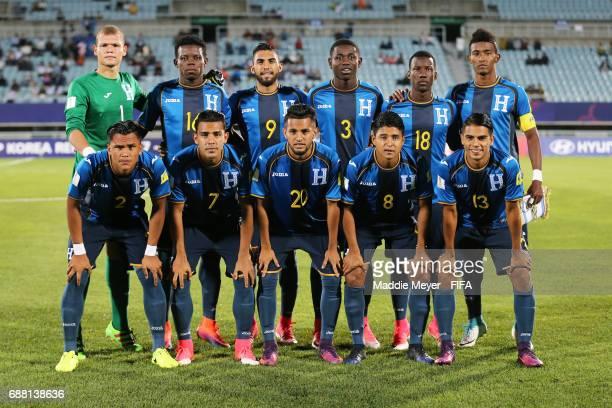 The starting line up of Honduras before the FIFA U20 World Cup Korea Republic 2017 group E match between New Zealand and Honduras at Cheonan Baekseok...