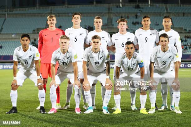 The starting line up of New Zealand before the FIFA U20 World Cup Korea Republic 2017 group E match between New Zealand and Honduras at Cheonan...
