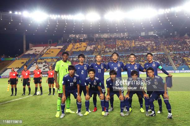 The starting lineup of Japan before the FIFA U17 World Cup Brazil 2019 group D match between Senegal and Japan at Estádio Kléber Andrade on November...