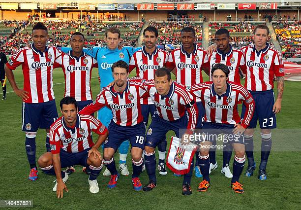 96be8de11 The Starting XI of Chivas USA pose for a group photo prior to the MLS match