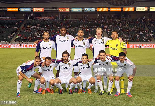 bcab383dd The Starting XI of Real Salt Lake pose for a group photo prior to their MLS