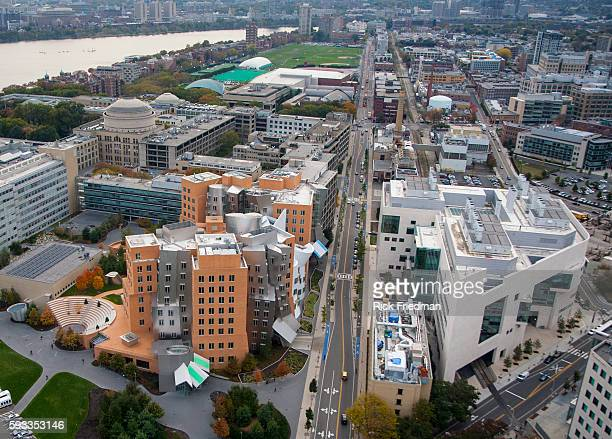 The Stata Center on the campus of the Massachusetts Institute of Technology in Cambridge MA The Stata Center designed by architect Frank Gheary is...