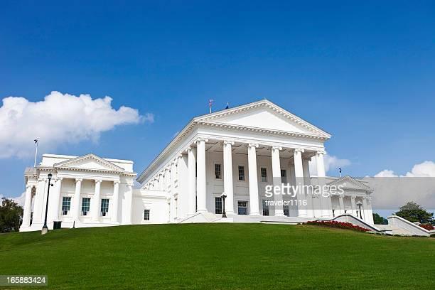 la state capitol building, richmond, virginia - virginia stato usa foto e immagini stock