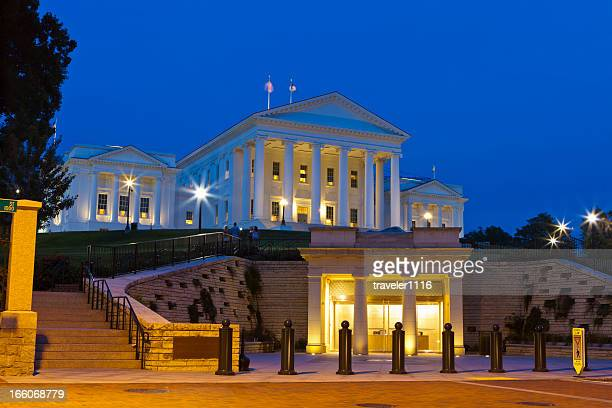 the state capitol richmond, virginia - virginia state capitol stock pictures, royalty-free photos & images