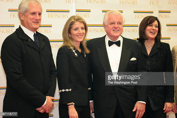 The State Department C Street NW Edwin Schlossberg Caroline Kennedy Sen Edward M Kennedy and Victoria Kennedy arrive at the State Department for the...