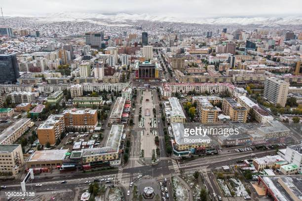 Mongolian flags fly in Ulaanbaatar Mongolia on Friday Sept 21 2018 Mongolia is recovering after an economic slump meant it needed a $55 billion...
