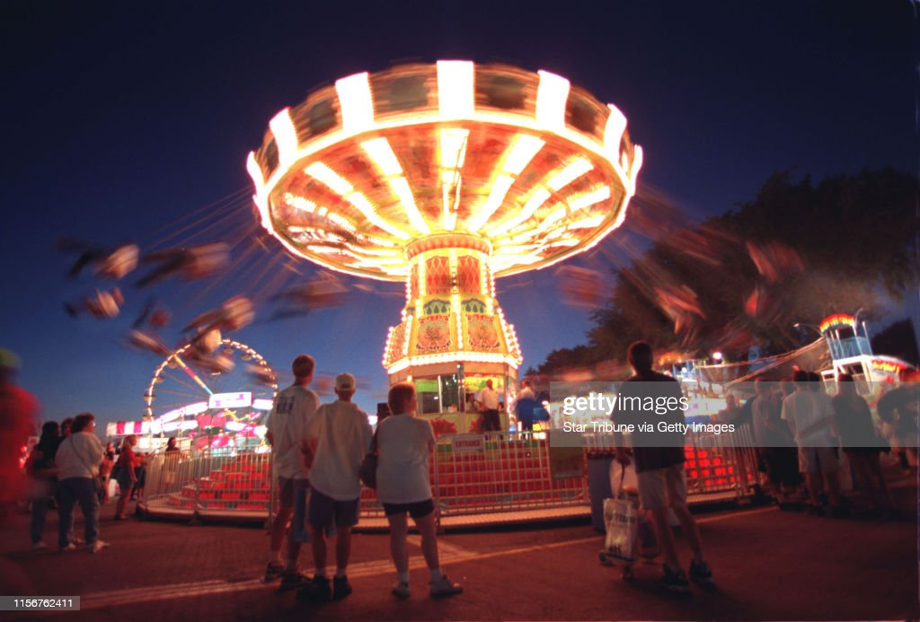 The State Fair Midway gets into full swing on the opening day of the Minnesota State Fair. : News Photo