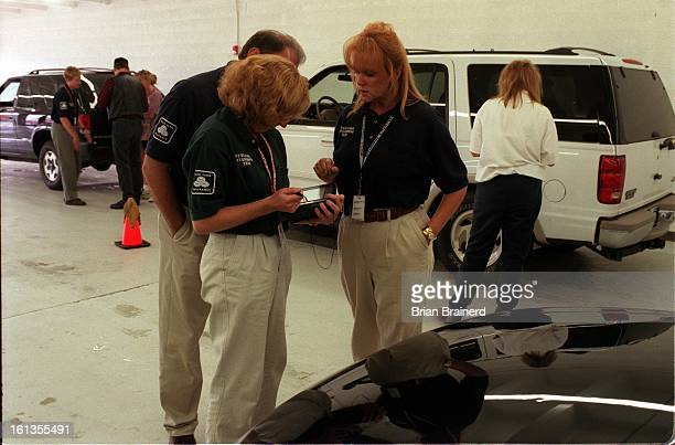 The State Farm Insurance disaster team on the scene at the Catastrophe Claim Center 6090 W 44th Ave in Wheatridge estimating autos damaged by recent...