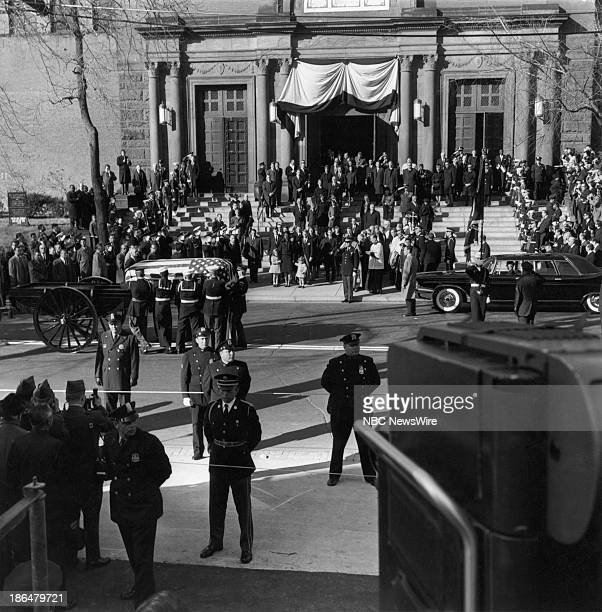 REPORT The State Funeral of President John F Kennedy Pictured Casket of President John F Kennedy Caroline Kennedy First Lady Jacqueline Kennedy John...