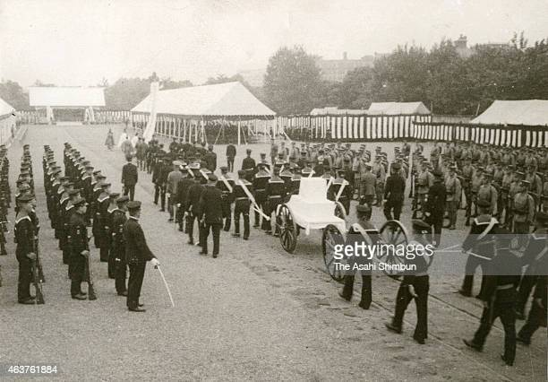 The state funeral of the Imperial Navy Admiral Isoroku Yamamoto at Hibiya Park on June 5 1943 in Tokyo Japan