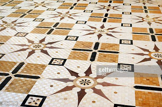 The State Hermitage Museum. Knights' Hall. Pavement detail. Saint Petersburg, Russia.