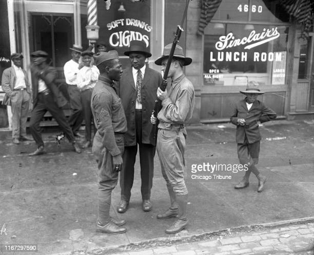 The state militia was called in to quell the violence on the south side of Chicago during the 1919 race riots
