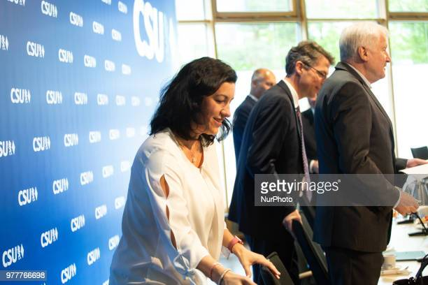 The state minister of digitalisation Dorothee Baer The Christian Social Union held a board meeting in Munich Germany on 18 June 2018 where they...