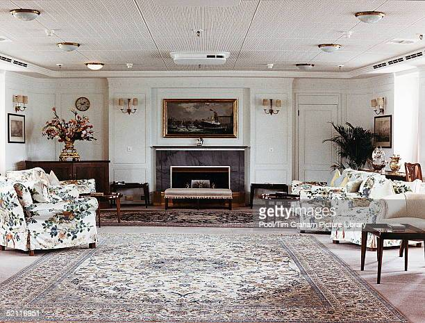 The State Room On The Royal Yacht Britannia.circa 1990s