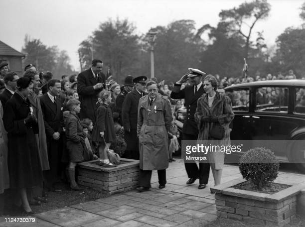 The state visit of King Frederick IX and Queen Ingrid of Denmark Pictured on their visit to Feltham 9th May 1951
