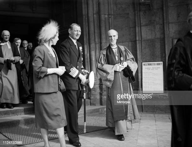 The state visit of King Frederick IX and Queen Ingrid of Denmark Pictured on their visit to Westminster Abbey 8th May 1951