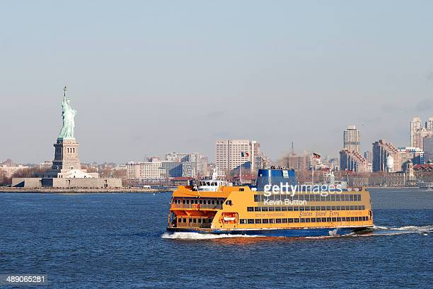 CONTENT] The Staten Island Ferry passes the Statue of Liberty in New York