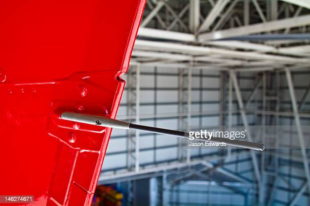 The static discharge wick on the vertical stabilizer of an A380.