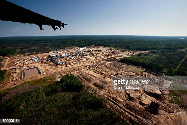 The Statoil SAGD Processing Plant under construction SAGD Steam Assisted Gravity Drainage makes a smaller footprint than open pit mining but release...