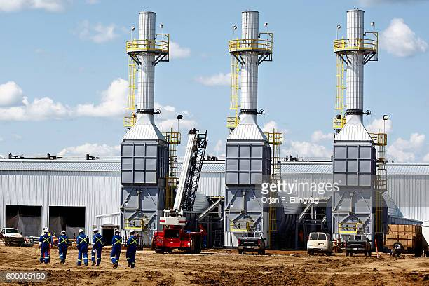 The Statoil SAGD Processing Plant under construction The three steam generators are key to the SAGD oil excavation SAGD Steam Assisted Gravity...