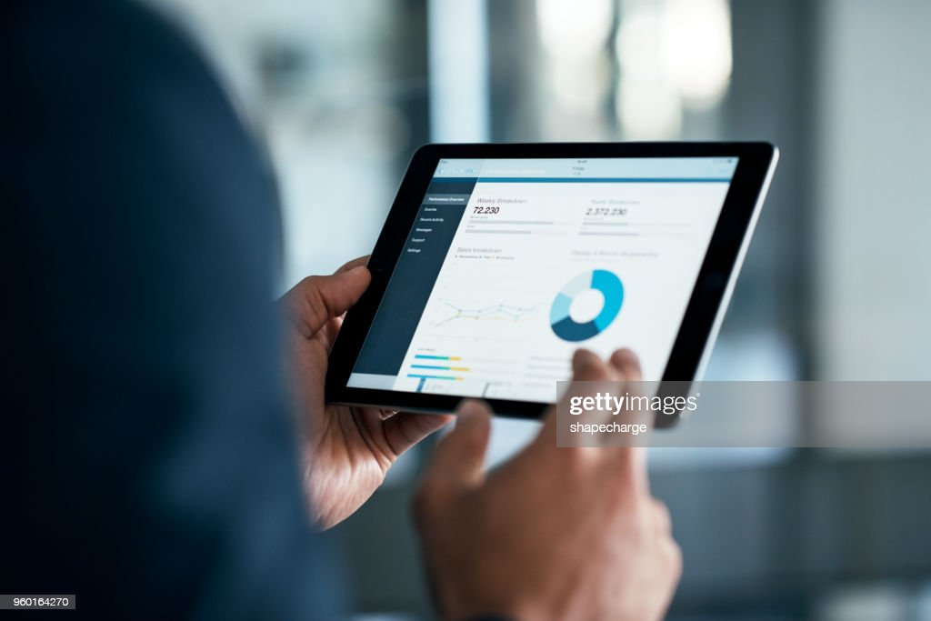 The stats have a lot to say : Stock Photo