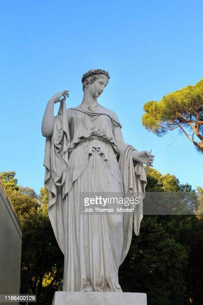 the statue of a queen in spagna rome - statue stock pictures, royalty-free photos & images