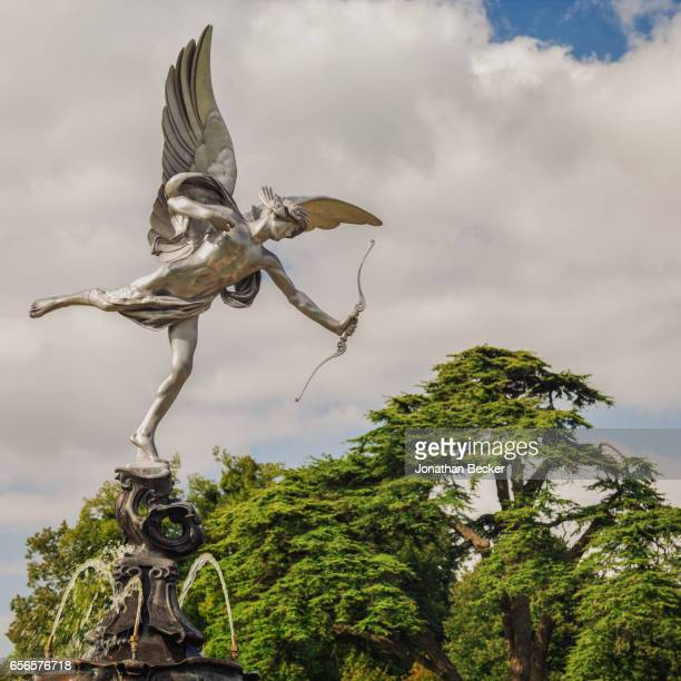 The statue of Anteros at St Giles House is photographed on September 9 2015 in Dorset England