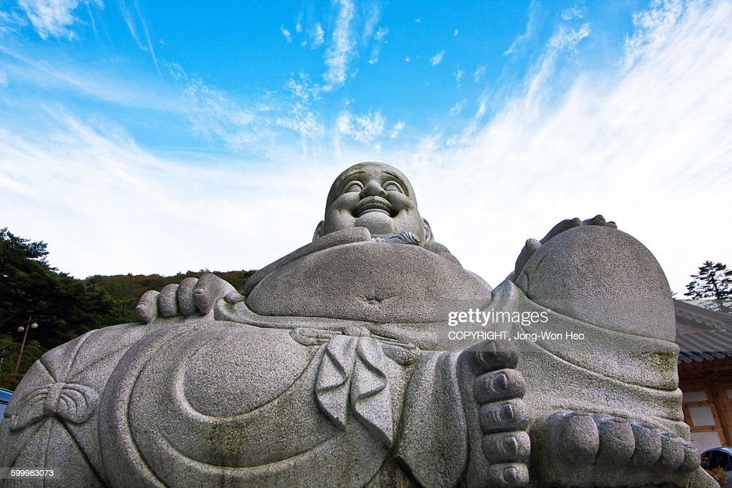 The statue of Dharma : Stock Photo