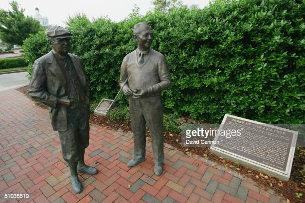 The statue of Donald Ross the designer of the No 2 course and Richard S Tufts a true devotee of the amateur game near to the clubhouse of the...