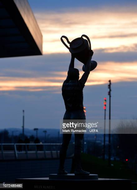 The statue of Ex Celtic captain and Lisbon Lion Billy McNeil at Celtic Park ahead of the UEFA Europa League Group B match between Celtic and RB...