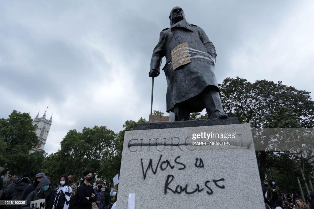 BRITAIN-US-RACISM-UNREST-FLOYD : News Photo