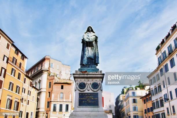 The Statue of Giordano Bruno in Rome, Italy