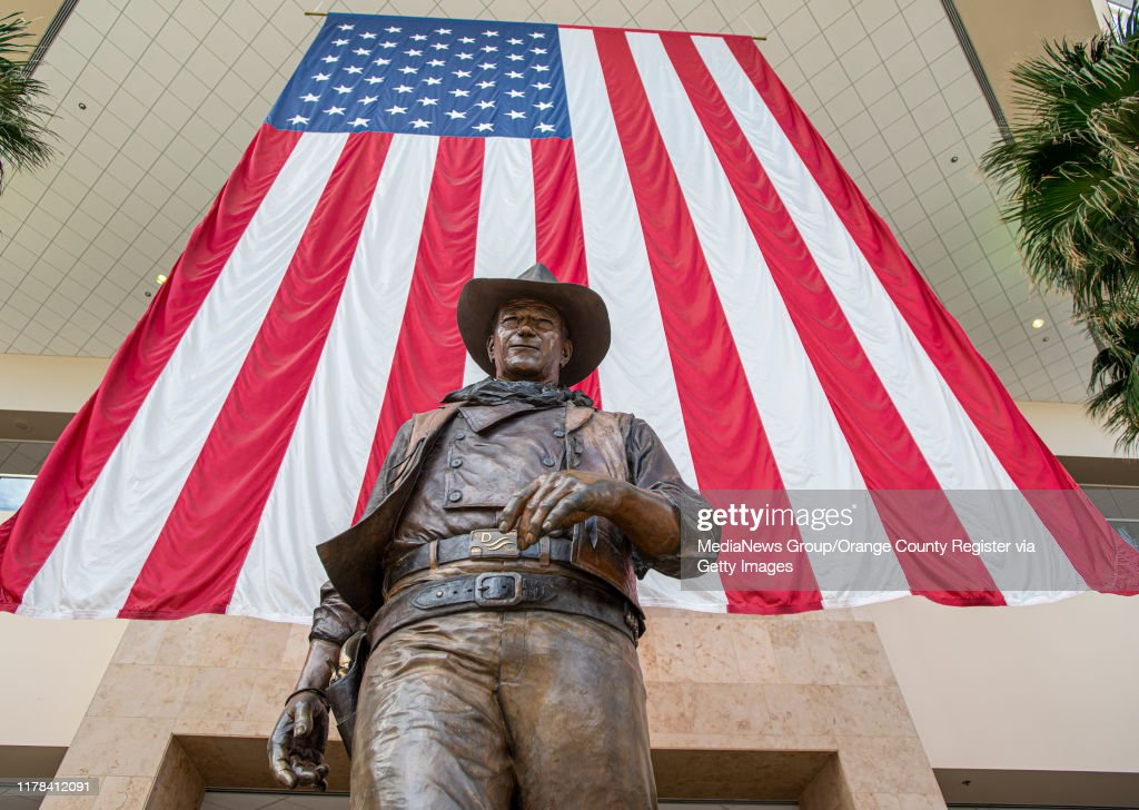 John Wayne Airport Statue : News Photo