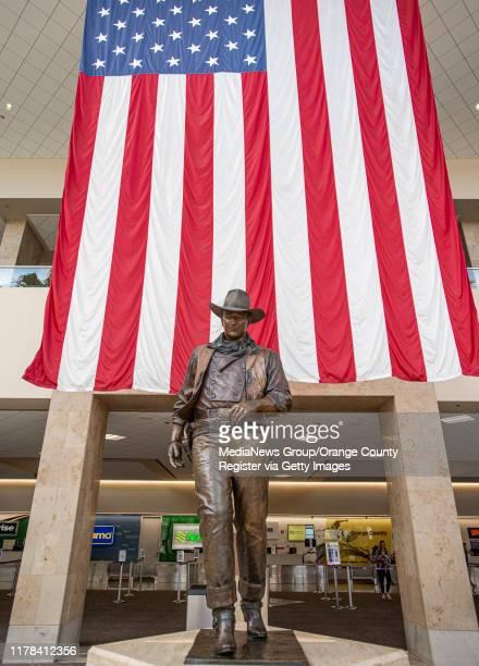 The statue of John Wayne at John Wayne Airport in Santa Ana on Wednesday September 25 2019