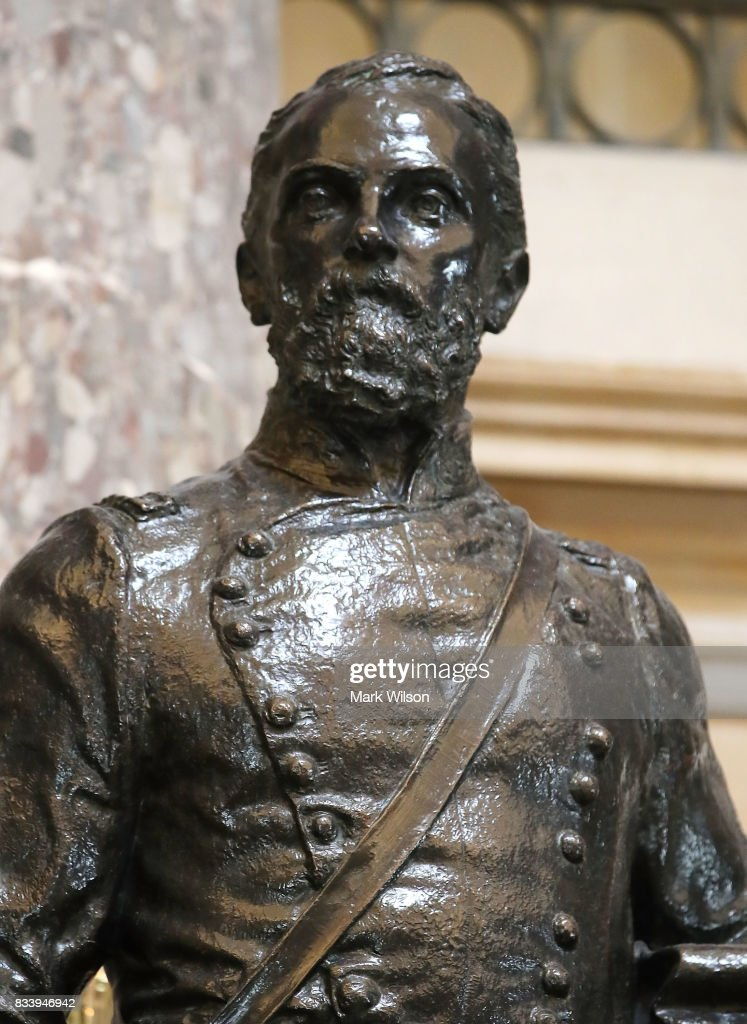 The statue of Joseph Wheeler who was a Confederate military commander military during the Civil War, stands inside of Statuary Hall inside the US Capitol August 17, 2017 in Washington, DC. House Minority Leader Nancy Pelosi (D-CA) has called for the removal of all Confederate statues from the United States Capitol.