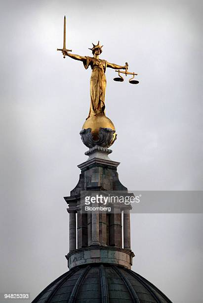 The Statue of Justice seen on the roof of the Central Criminal Court or Old Bailey in London Thursday January 6 2006
