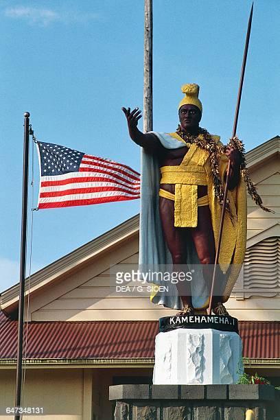 The statue of King Kamehameha Honolulu Hawaii Big Island Kona Hawaii United States of America