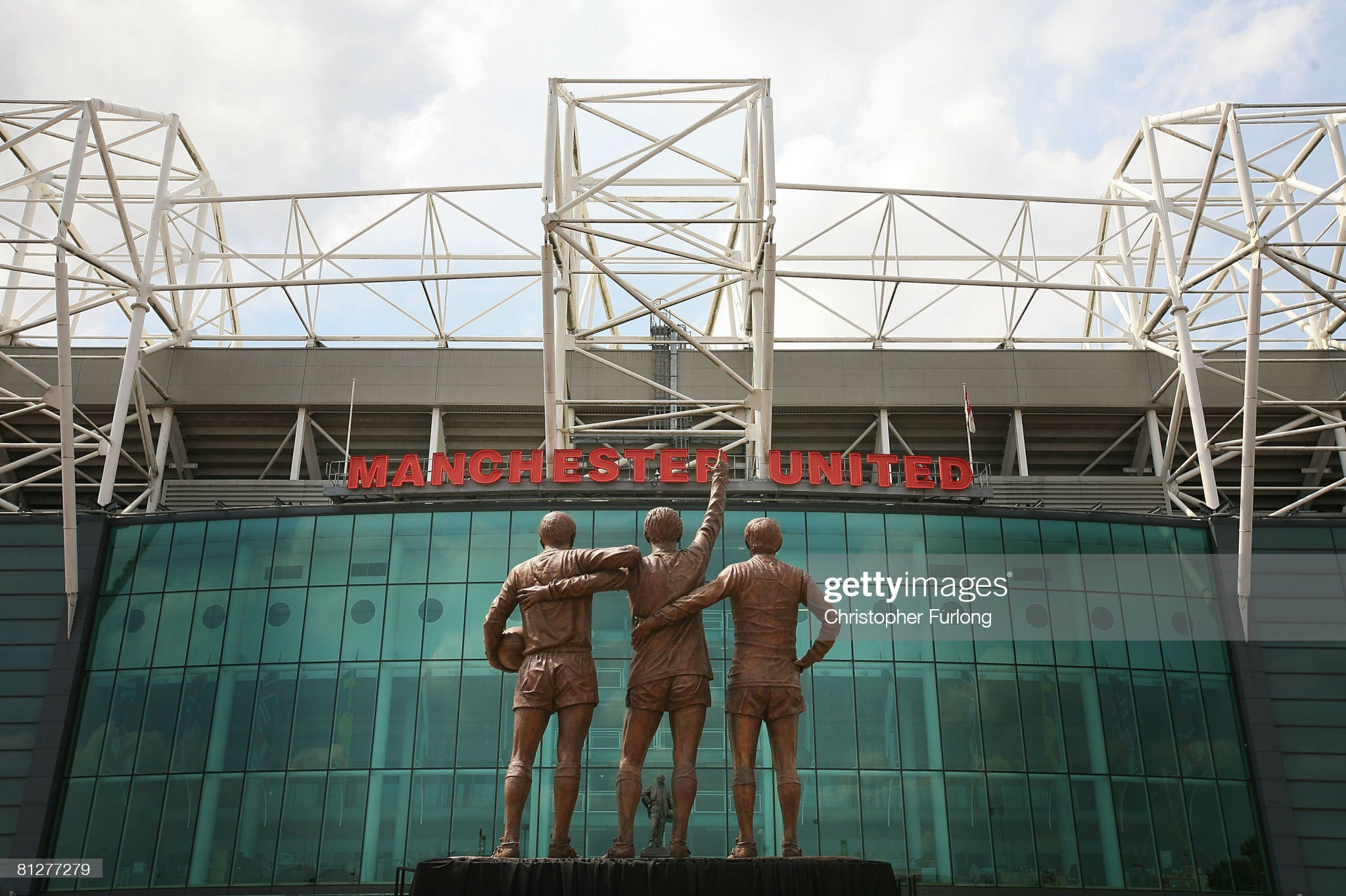 Manchester United Trinity Statue Unveiled : ニュース写真
