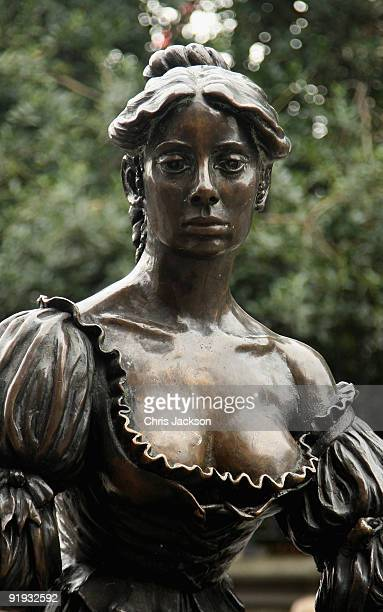 The statue of Moll Malone on lower Grafton Street known as the 'Tart with the cart' is seen on October 15 2009 in Dublin Ireland Dublin is Ireland's...