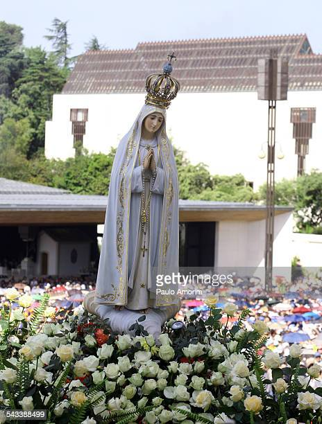 The statue of Our Lady Fatima in Portugal