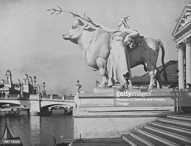 The Statue Of Plenty at the World's Columbian Exposition in Chicago Illinois 1893 This image is a part of the W H Jackson photo set from 'The White...