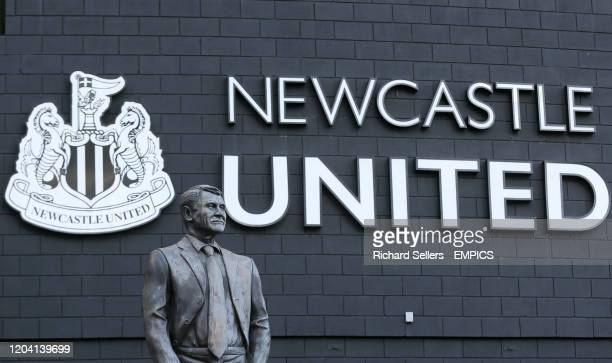 The statue of Sir Bobby Robson outside the stadium Newcastle United v Burnley - Premier League - St James' Park .