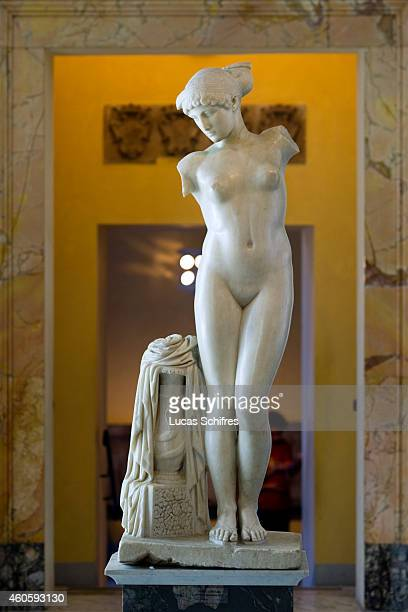 The statue of the Esquiline Venus stands on display in Capitoline Museums on August 19 in Rome Italy Rome the capital of Italy was legendarily...