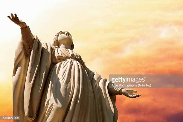 The Statue of the Virgin Mary on the Summit of San Cristobal Hill, Northern Santiago, Chile, South America