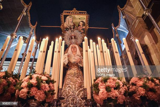 The statue of the Virgin Mary seen at the church Holy week is one of the most important and famous religious feast from Spain Every year thousands of...