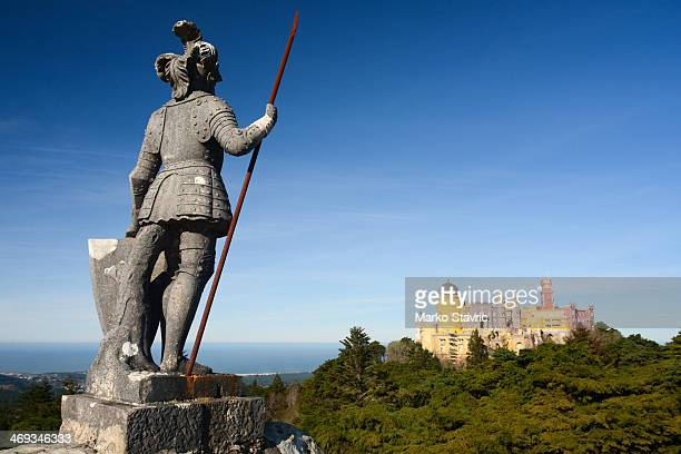 CONTENT] The Statue of the Warrior with the Pena Palace in the background A UNESCO World Heritage Site next to the town of Sintra