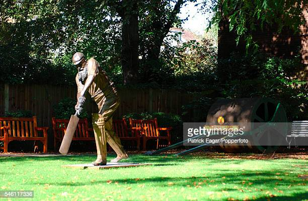 The statue of WG Grace in the Coronation Garden at at Lord's Cricket Ground, London, 13 September 2002.