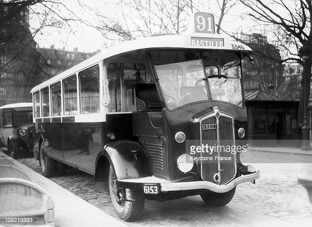 The Stcrp Put The New Aerodynamic Bus Model Into Service On The BastilleGare Montparnasse Line In Paris On March 12 1936
